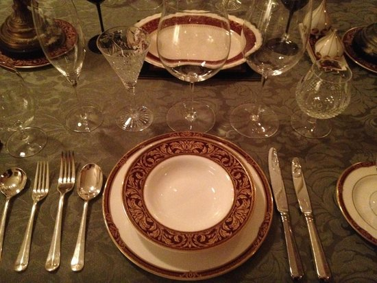 Birches Luxury Spa Chalets: Our table setting.