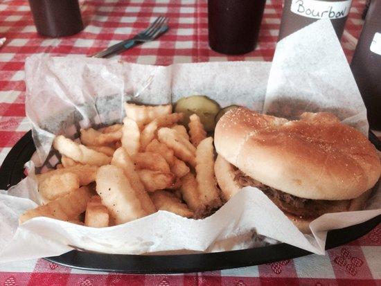 Hillbillies BBQ Restaurant: My pork sandwich. Delicious.