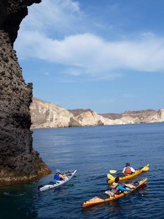 Spiridakos Sailing Cruises: contrasting rock formations - kayaks & other sights of interest too