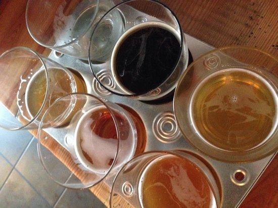 The Savory Grain: Best menu item- beer flight!