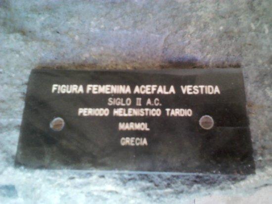 Pedro Coronel Museum (Museo de Pedro Coronel): Placa indicativa da escultura