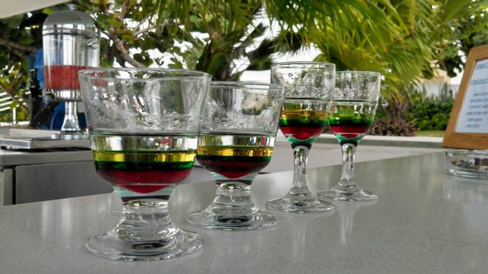 Couples Tower Isle : Bob Marley shots!  Pretty to look at, deadly to drink