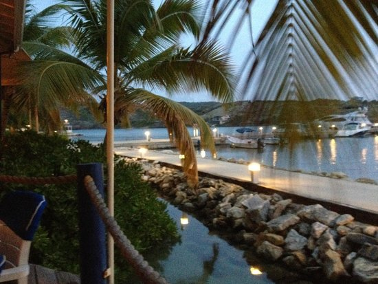 St. James's Club & Villas : view from Docksiders Restaurant