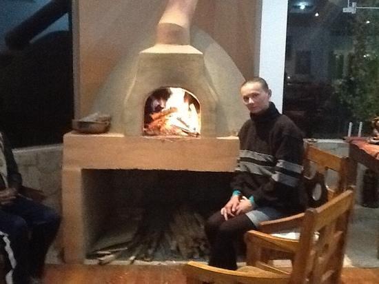 Mirador del Titikaka: fireplace
