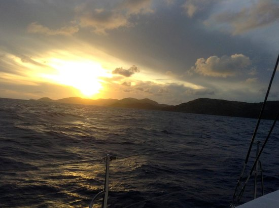 St. James's Club & Villas : sunset cruise on hotel catamaran