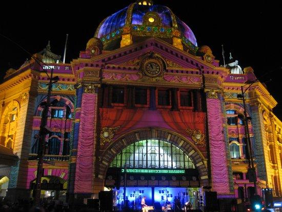 Flinders Street Station: Station During White Night