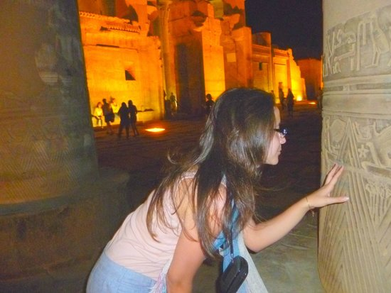 Temple of Kom Ombo: Don't touch it