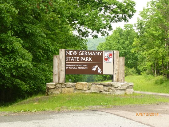 New Germany State Park: Entrance to the Park