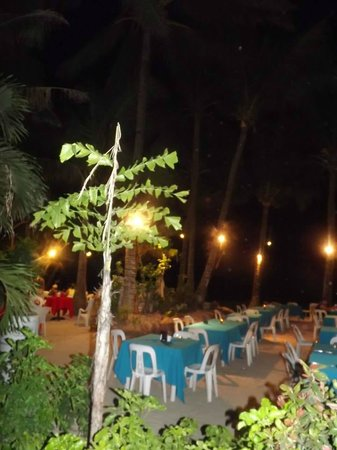 La Carmela de Boracay : at night you can pick where you want to eat