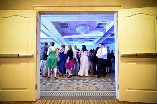 Salem Waterfront Hotel & Suites: Folks in the reception hall having a blast.  Photography: Bharat Parmar