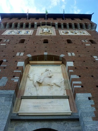 Above the entrance of the Castello Sforzesco