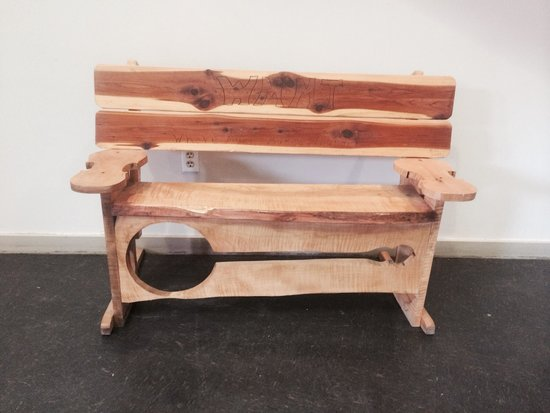 Appalshop: Unique bench.
