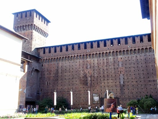 Walls of the Castello Sforzesco