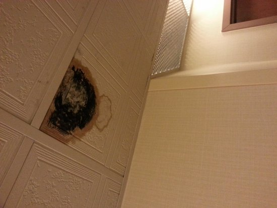 Days Inn & Suites Morganton: A ceiling tile outside of our room