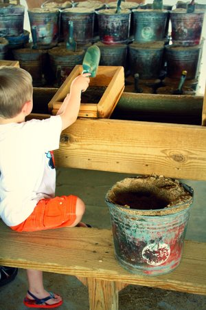 Pigeon Forge Gem Mine: He loved to sift