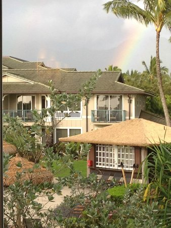 Westin Princeville Ocean Resort Villas: Good morning rainbow woke us up the first day