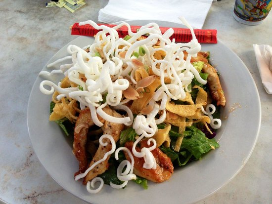 Fogarty's: Asian Chicken Salad (grilled instead of fried) SO super yummy!!