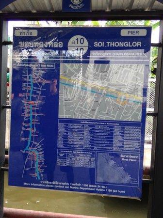 Khlong Saen Saep : informasi pada setiap pier