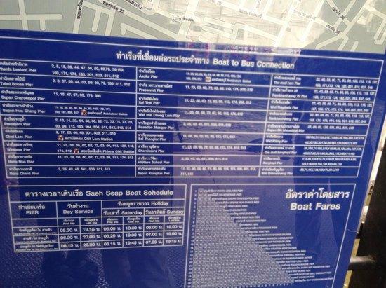 Khlong Saen Saep : informasi tarif