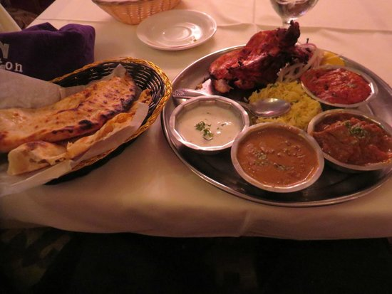 Tandoori thali plate picture of aroma indian restaurant for Aroma cuisine of india