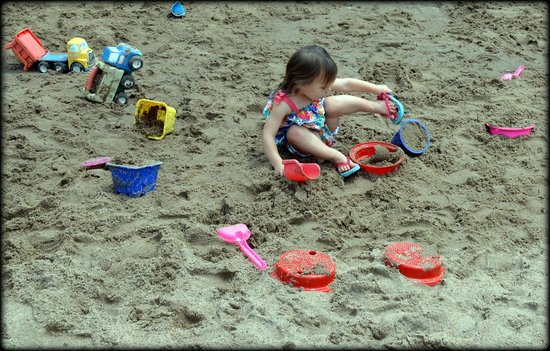The Magic House: back sand pit