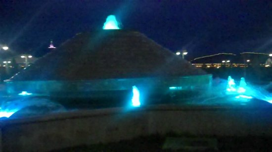 Monument Arch of Neutrality: Fountains of color at Bitaraplyk arkasy Ashgabat