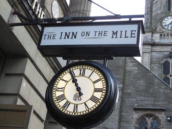 The Inn on the Mile: The sign on the Inn