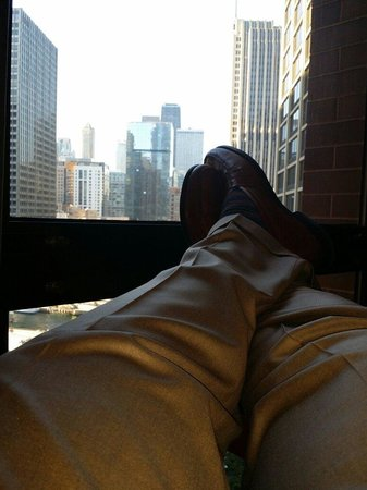 Hyatt Regency Chicago: What better way to relax and enjoy the Magnificent Mile in Chicago.....