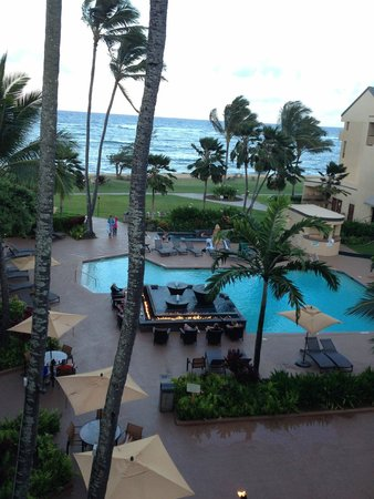 Courtyard Kaua'i at Coconut Beach: View from our small lanai