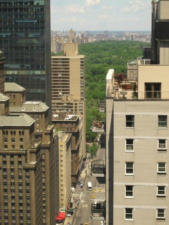 Sheraton New York Times Square Hotel : view from club lounge central park in distance