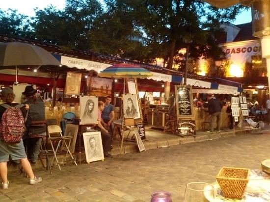 Au Clairon des Chasseurs : Place du Tertre, vista a partir do restaurante