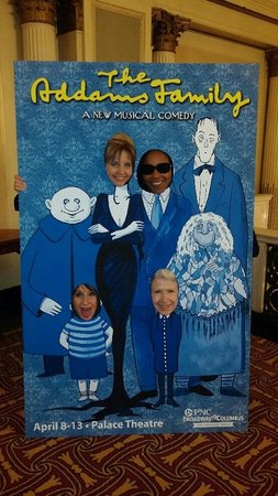 At the Ohio Theater seeing The Addams Family in 2014