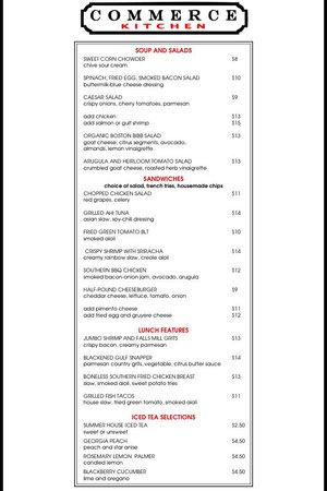 Commerce Kitchen : 2014 Summer Lunch Menu