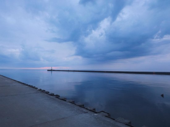 Grand Haven Lighthouse and Pier : one view from pier