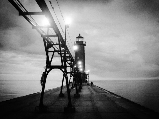 Grand Haven Lighthouse and Pier: Pier/light house