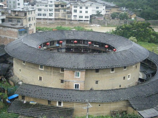 Yongding Earth Building: Hakka Tulou - view from the hotel