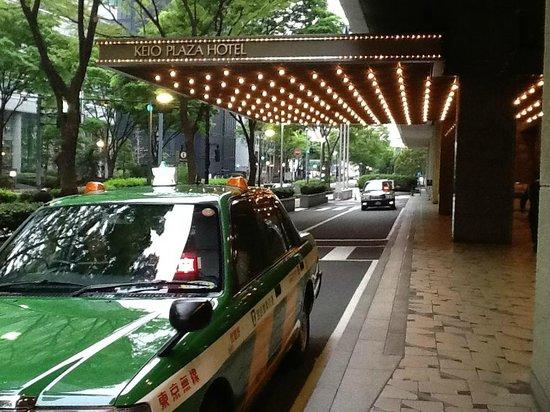 Keio Plaza Hotel Tokyo: Parada para taxi