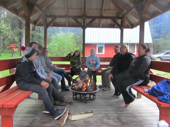 Gazebo Fire Pit Picture Of Camelot Cottages Seward Tripadvisor