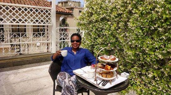 Hotel Villa Duse: Breakfast on the private balcony