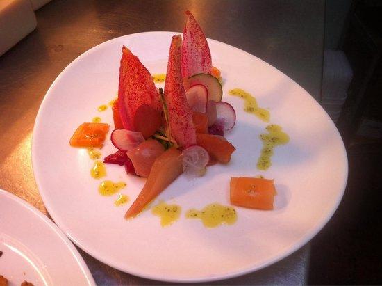 Aldos: Smoked salmon starter.