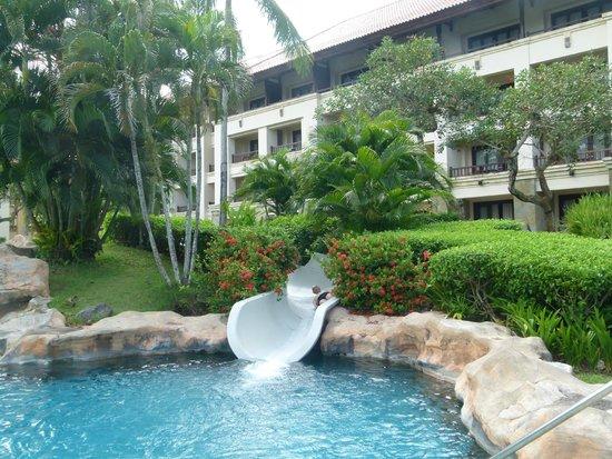 Pan Pacific Nirwana Bali Resort: Peaceful settings from the pool.
