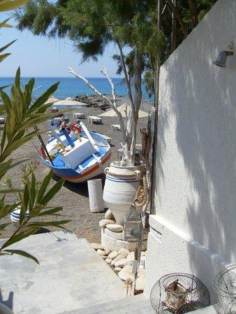 Ostria Resort & Spa : en allant au restaurant de poissons