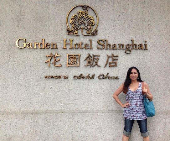 Okura Garden Hotel Shanghai: Hotel signage