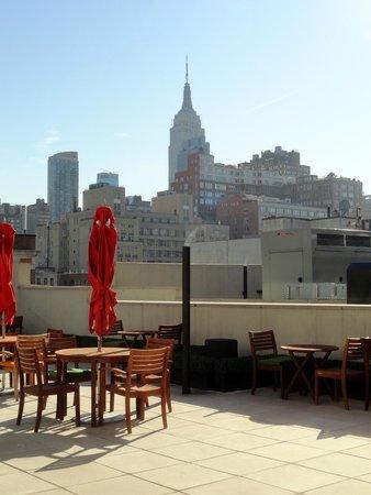 The GEM Hotel Chelsea: Vue de la terrasse