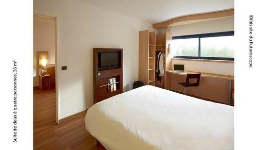 Hotel Ibis Site du Futuroscope : chambre rénovée pour une ou deux personnes