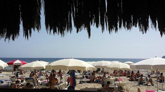 Sa Trinxa Beach Bar: vista a la playa