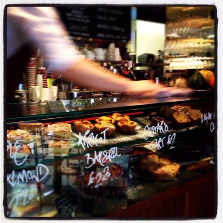 Cafe Gusto: Counter display in Washington St