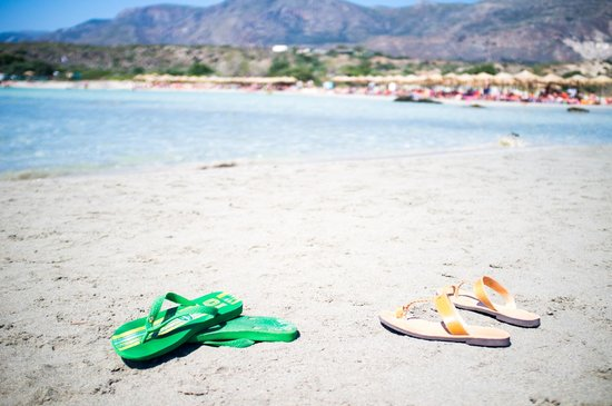 Plage d'Elafonissi : sunning a dune