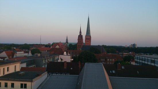 Atlantic Hotel Lübeck: Vy från relaxavdelningen