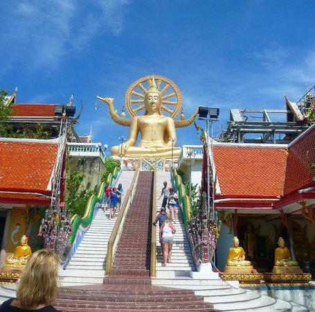 Big Buddha Temple (Wat Phra Yai): colpo d'occhio totale accesso alla staua